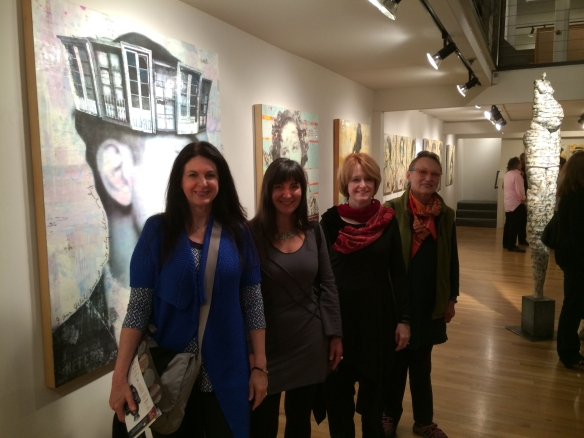 Pacific Northwest artist friends Left Deborah Kapoor, Elise Wagner, me, and Joan Stuart Ross