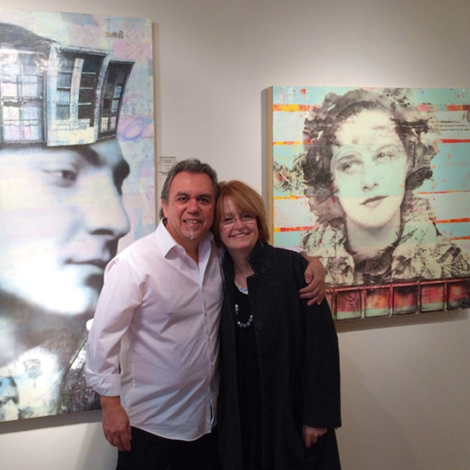 Thanks Fred! Fred Holmes and Marybeth Rothman, at Frederick Holmes and Company Gallery, Seattle, WA. October 3, 2014.